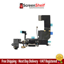 iPhone 5C charge port dock connector charger headphone flex cable - Black