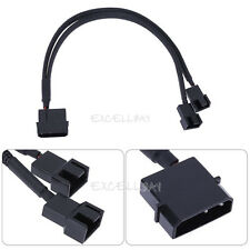 4pin IDE Molex to 2-Port 3Pin/4Pin 12V PC PSU Cooler Cooling Fan Splitter Cable