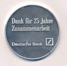 """Medalla de plata banco alemán"""" 25 años """"en el orig. estuche"""