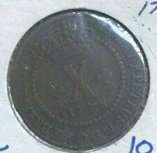 1778 Brazil 10 Reis - Scarce Copper