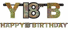 18th Birthday Party Supplies SPARKLING BIRTHDAY BANNER Decorations Milestone