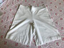 NWOT Pure J.Jill WHITE Pull-On Cotton/Rayon Stretch Bermuda Walking Shorts XS