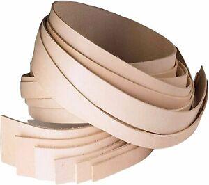 ELW Vegetable Tanned Leather Belt Blanks Strips Straps 5-6oz (2mm) Thickness...