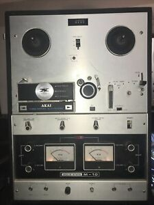 Akai M-10 Reel To Reel Recorder. Solid State. Powers On. NOT Functional
