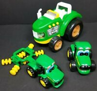 John Deere Green Toy Tractor Farming Vehicle Lot