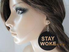 Stay Woke Earrings African American Earrings Black Girl Earrings Wood Earrings