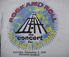 ROCK N ROLL Hall of Fame Concert 1995 SHIRT XL BANDS LISTED Dre Prince CLEVELAND