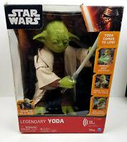 "Star Wars Legendary Yoda Train To Be A Jedi 16"" Interactive Figure NEW IN BOX"
