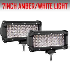 "2x Quad Row 7inch 480w LED Work Light Bar Spot Offroad Driving 4wd Truck ATV 6"""