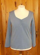 MODA GEORGE slate blue long sleeve square neck  tunic t-shirt top BNWT 16 44