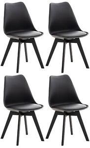 #R42380/0305 4x Stuhl Linares schwarz/schwarz Stühle Gebraucht Esszimmerstühle