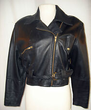 Leather  Motor Cycle  Jacket Preowned Good Cond. Sz Med