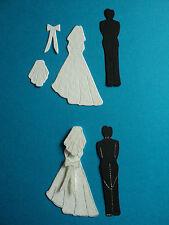 Bride & Groom die cut shapes Wedding Marriage