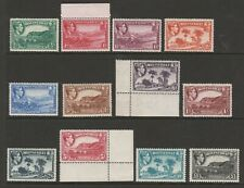 Montserrat 1938-48 Complete set SG 101a-112 Mnh.