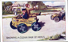 Advertising. Wood-Milne Revolving Heels Motor Car & Toy Car.