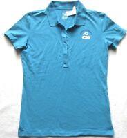 NIKE Damen Poloshirt in Blau-Türkis Gr. M