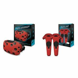 Hyperkin GelShell Headset Silicone Skin for HTC Vive Red & GelShell Controlle...