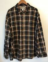 Duluth Trading Co Men's Brown Plaid Flannel Long Sleeve Shirt Size XL