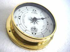 Small, Light Gezeitenuhr- IN Bullaugenform From Brass Diameter 4 1/2in