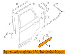 LAND ROVER OEM Discovery Rear Door Body Side-Lower Molding Trim Left LR082945