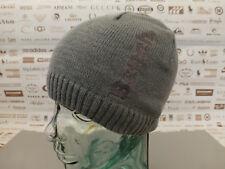 BENCH Fine Ribbed Beanie Basic Skull Cap Embroidery Dark Grey Thin Knit Hat BNWT