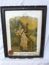 Antiq VTG Original Raja Ravi Varma Lithograph Oleograph Print Goddess Saraswati.