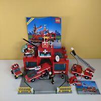 Vintage 1990 Lego 6389 Fire Station & 6593 Blaze Battler- Original Instructions