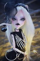 Gothic Ooak Monster High Doll Repaint Catrine DeMew Custom Handmade Clothes