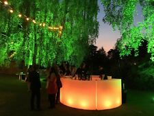 More details for led circular curved mobile bar - illuminated bar units - new