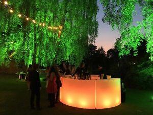 LED Circular Curved Mobile Bar - Illuminated Bar Units - NEW