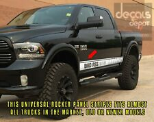 2X Truck Decals Universal Fits Dodge Ram 1500, 2500HD, 3500HD SXT Rebel Big Horn