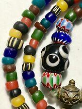 INDO ANCIENT BEAD RARE TIBETAN TIBET AGATE PACIFIC NECKLACE BRACELET OLD RARE #2