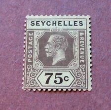 Seychelles Scott# 110 King George V 75c 1924 MH C13