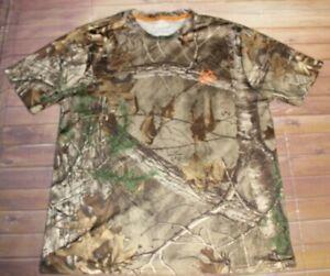 Real Tree Dri More Tech Short Sleeve Shirt Men Medium 38-40 Camouflage Hunting