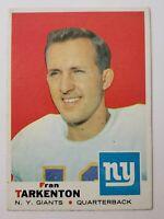 1969 FRAN TARKENTON NFL FOOTBALL CARD NY GIANTS SPORTS TOPPS TRADING CARDS RARE