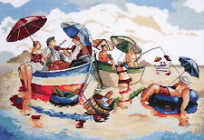 Cross Stitch Kit ~ Design Works Water Lunch Vintage Beach Scene #DW2778