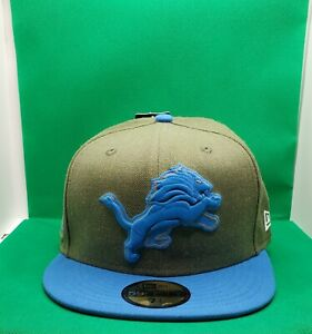 New Detroit Lions New Era 18 Salute to Service Sideline 59FIFTY Fitted Hat 7 1/2