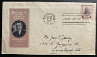 1938 Washington DC USA First Day Cover FDC Woodrow Wilson President B