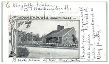 1904 Adams' Houses, Quincy, Ma Private Mailing Card Postcard