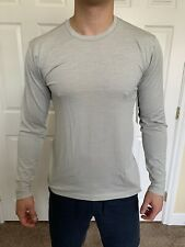 Lululemon Men's Size L Metal Vent Breathe Long Sleeve Ls Gray Sild/Ltiv Nwt