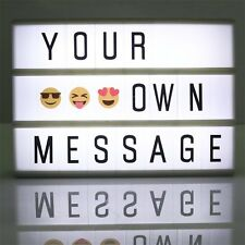 A4 LIGHT UP LETTER BOX CINEMATIC LED SIGN WEDDING PARTY CINEMA EMOJIS USB