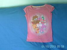 Girls 10 Years - Pink T-Shirt, Moshi Monsters Motif - Next