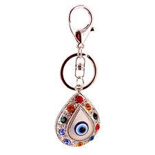 Damen Handtasche Pendant Versilbert Schlüsselring mit Teufel-Auge Form Anhänger