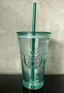 Rare Brand NEW Official Starbucks Limited Edition Spanish Glass Tall Cold Cup