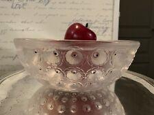 Coupe Lalique Modèle Nemours en cristal émaillé.