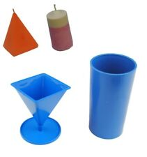 Set x 2 Candle Moulds 1 x Pillar & 1 x Pyramid Mould UK Made S7569
