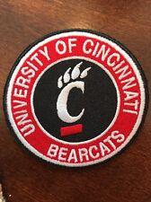 "University Of Cincinnati Bearcats Vintage Embroidered Iron On Patch 3"""