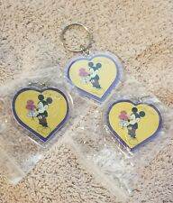Heart-shaped Mickey Mouse keychains three of them