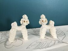 More details for 2x vintage cute poodle figurines collectable white dog ornaments
