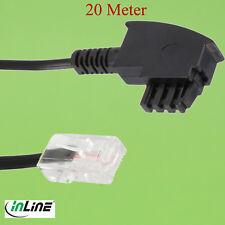 20m TAE-F Kabel DSL-Router,TAE-F Stecker,RJ45 8P2C,Fritzbox ,EasyBox,VDSL,20(197